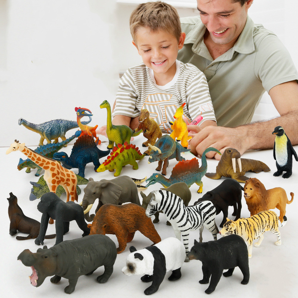 New Soft Rubber Animal Figure Education Toys For Kids 12 Kinds Simulation Dinosaur Insect Action Figures Children Toys