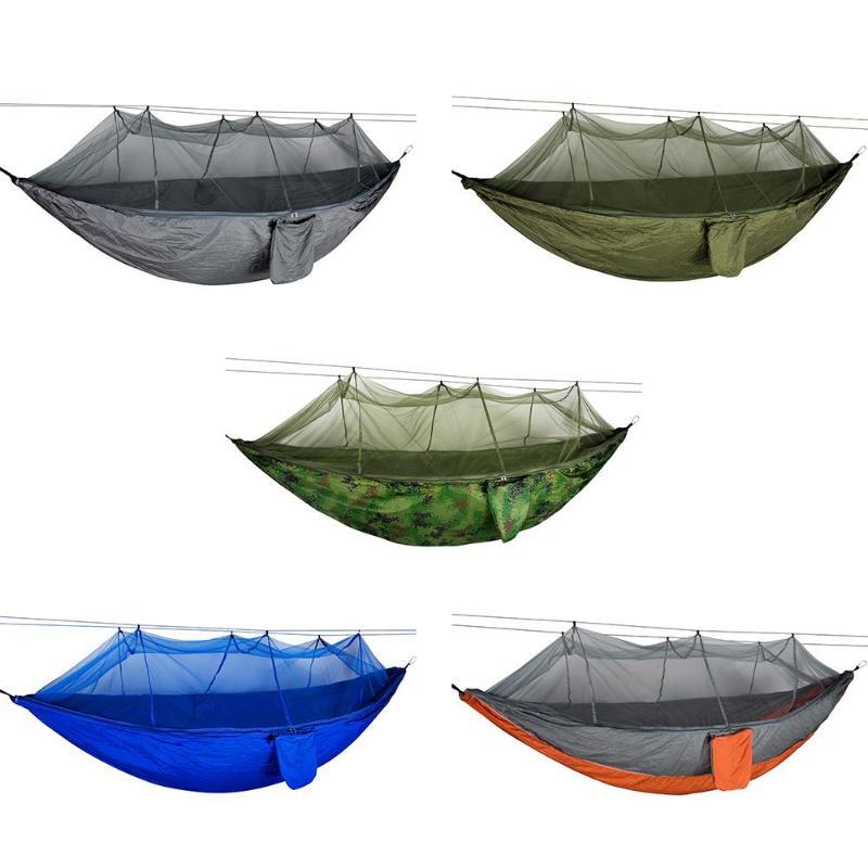 300 Kg Bearing Outdoor Mosquito Net Hammock Parachute Camping Hanging Sleeping Swing Bed Hanging Hammock E5M1