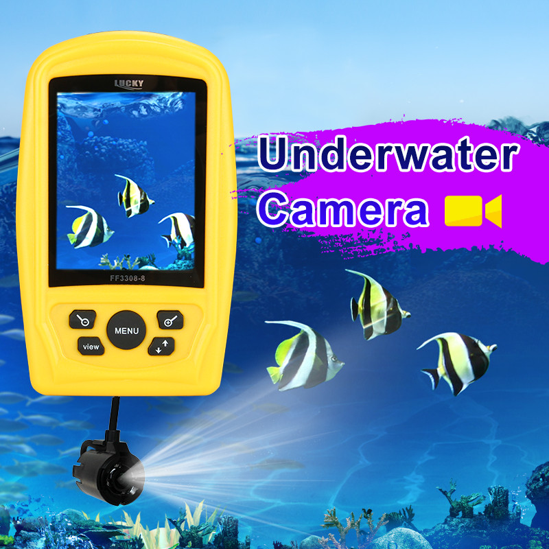 Lucky FF3308-8 3.5 inch TFT Color Underwater Camera Waterproof HD Monitor Fishing Finder Inspector 20M Cable Pesca Accessories блок питания atx 750 вт chieftec aps 750cb