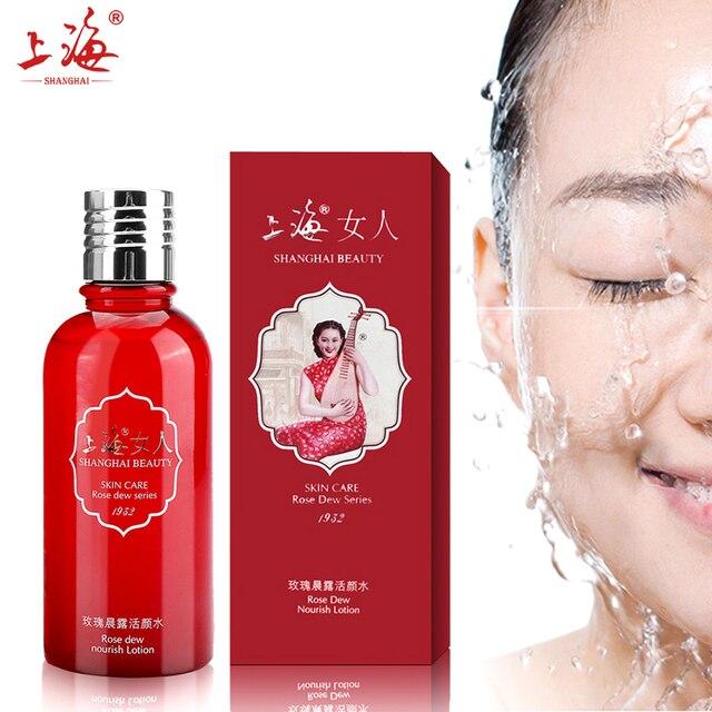 Shanghai Beauty Rosa Dew Nourish Rejuvenation Toner Lotion Face Skin