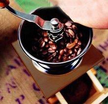 Vktech PHFU Mini Especias Estilo de La Vendimia De Madera del Grano de Café amoladora de la mano