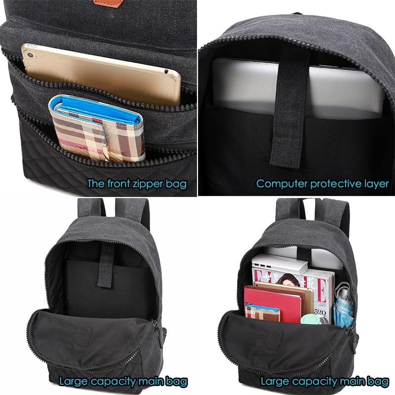 mulheres homens laptop mochila crianças Exterior : Abra o Bolso