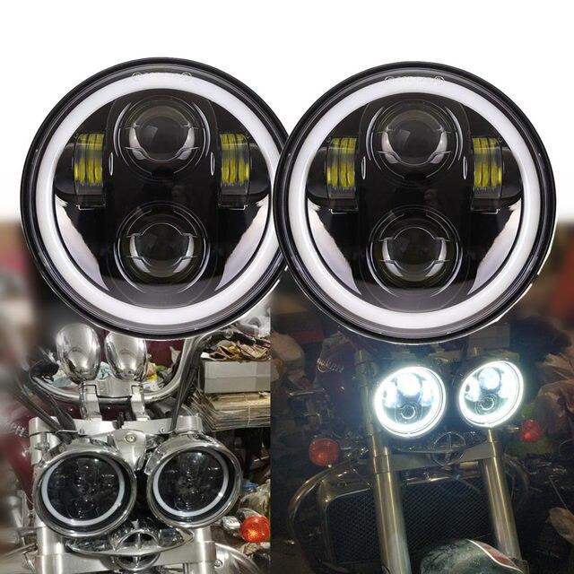Phares avant en fer 5.75 Dyna, 2X883 pouces, DRL, pour Triumph Rocket iii 3 vitesses Tripl et Street Triple lampe de 3/4 pouces, LED pouces