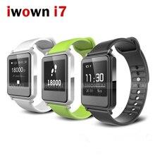Iwown i7 Reloj Inteligente Pulsera Wrist Band Calorías Monitor Del Ritmo cardíaco de Bluetooth Impermeable Rastreador De Fitness Podómetro Pulsera