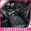 Ladycrystal Custom Luxury Diamond Leather General Car Cushion Seat Covers For BMW For Lexus For Benz Universal Car Seat Cover