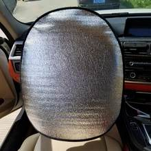 Summer Car Steering Wheel Sunshade Side Window Shades Pearl Cotton Steering Wheel Cover Sunscreen Insulation Side Sun Shade(China)
