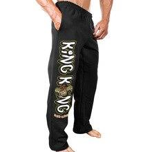 Autumn sports pants men cotton blend squat casual mens exaggerated big flower street multi-color trousers