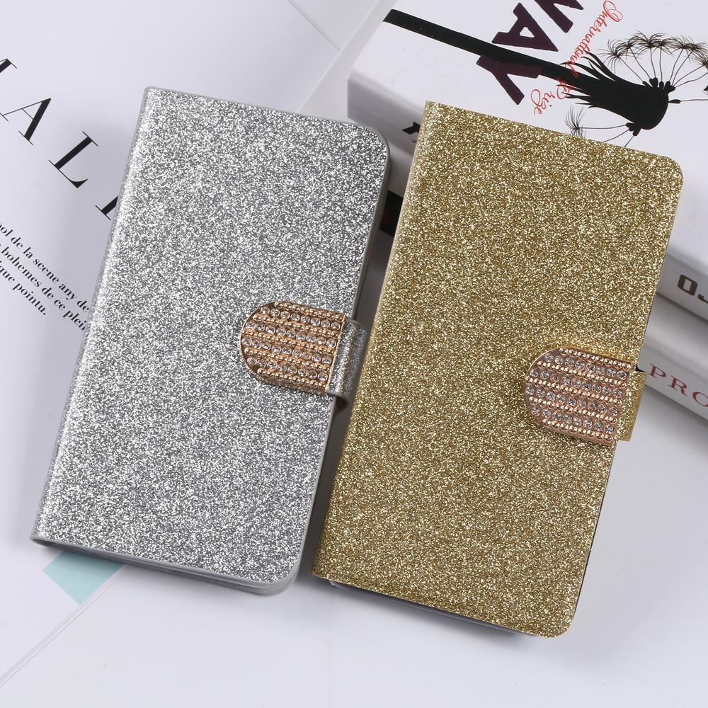 Cover For ZTE Blade A910 A 910 Luxury Newest Shimmering Powder Leather Flip Stand Phone Case with Card Slot 12 colors