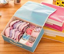 Hurtownie 50 sztuk partia organizer biustonoszy szuflady do przechowywania bielizna pudełka do przechowywania włókniny kryty biustonosz Combo siatki szafy organizatorzy tanie tanio Włókniny tkaniny 48x33x12cm
