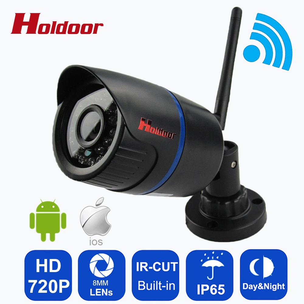 WIFI Camera Megapixel 720p HD Waterproof IP65 Outdoor Wireless Security CCTV Cam Infrared SD Card Slot Up To 64G Above 10 Class outdoor ip camera wifi megapixel 720p hd security cctv ip cam ir infrared sd card slot p2p v380 bullet kamera