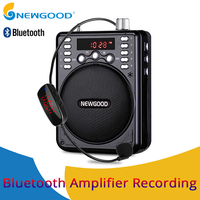 Mini Portable Voice Amplifier Bluetooth Speakers Loudspeaker Recording With FM Radio Wireless Microphone For Teachers Tour guide