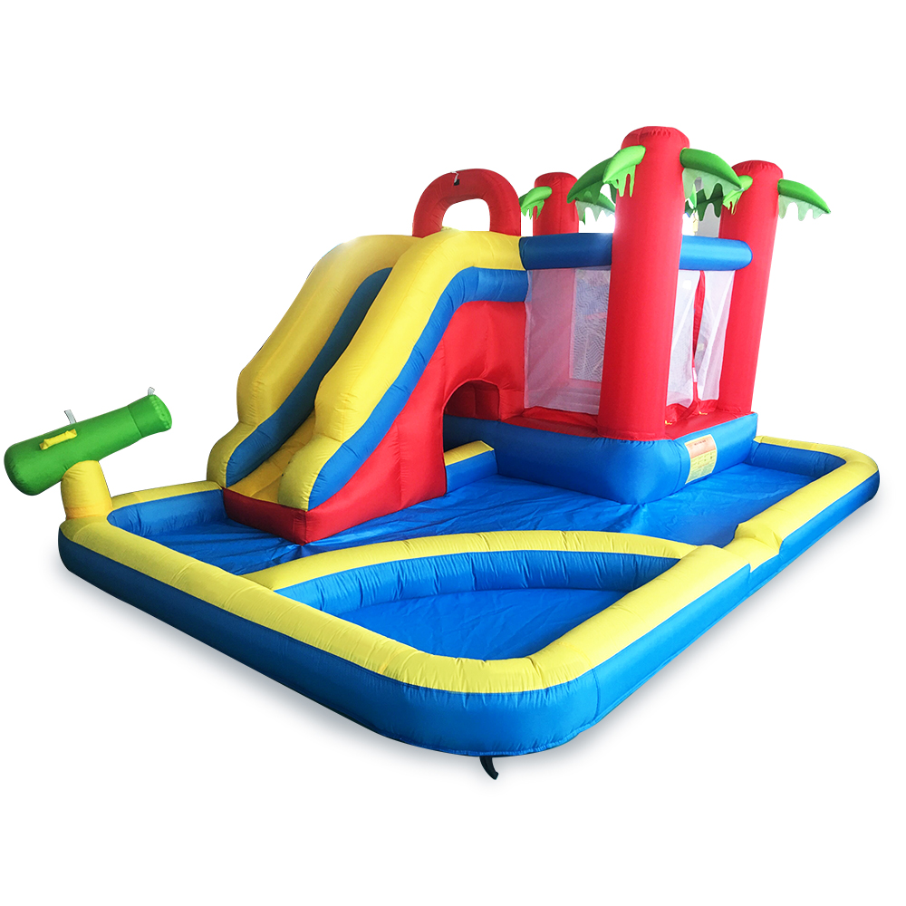YARD Inflatable Slide Castle Jumping House Pool 4.7*3.1*2.3M Water Trampoline Children Inflatable Water Slide Bouncy Castle factory price inflatable backyard water slide pool water park slides pool slide with blower for sale