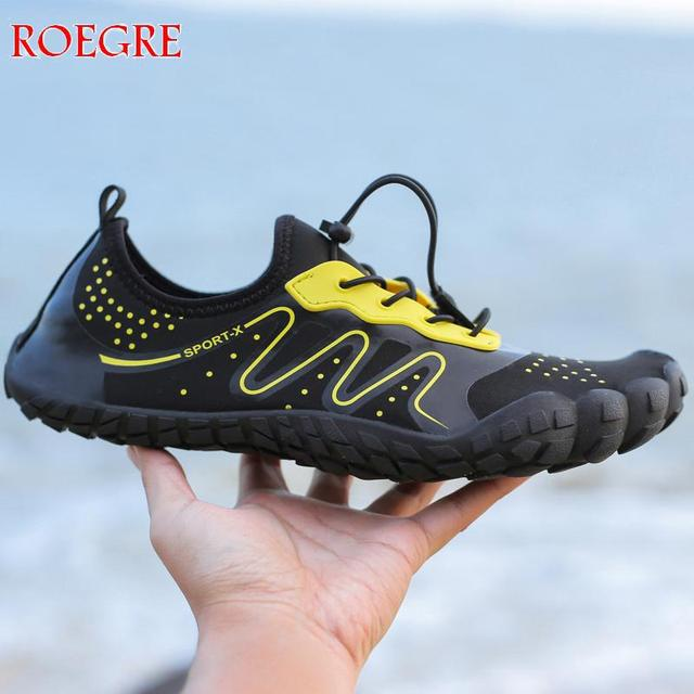 fee131c7c2cb 2019 Summer Men Beach Wading Casual Shoes Swimming On Surf Quick-Drying  lace-up Unisex Sneakers Sock Drainage man Water Shoes