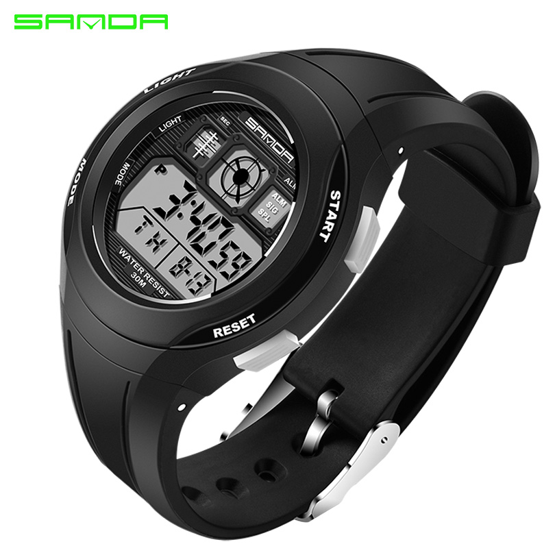 SANDA Brand Electronic Sport Watch Women Ladies Fashion ...