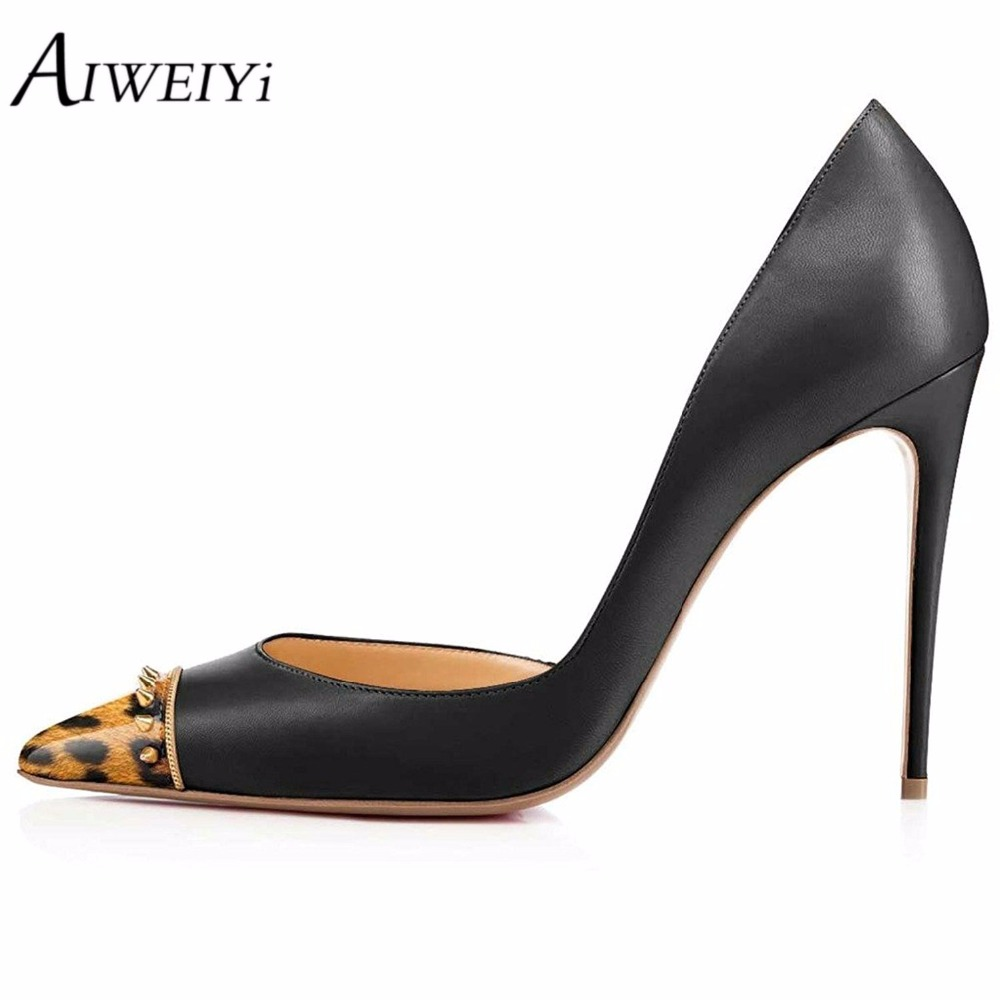 AIWEIYi Shallow Classics Women Pumps Thin Heels Pointed Toe High Heels Fashion Stiletto Heel Single Shoes 2017 Ladies Girl Pumps burgundy gray saphire blue pink women dress party career work shoes flock shallow mouth stiletto thin high heel pumps
