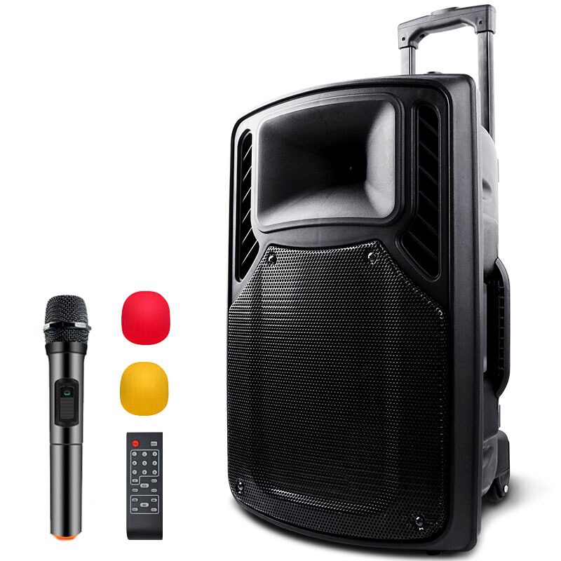 Kaoshi 12 inch high power Outdoor speaker,portable PA Bluetooth speaker,with remote control,street performance speaker,Boom Box