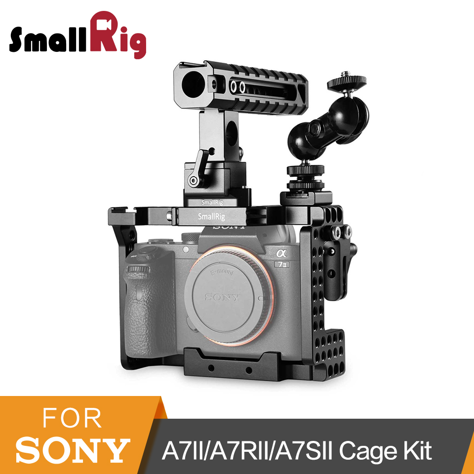 SmallRig For Sony A7II/A7RII/A7SII Cage With QR Cheese Handle+HDMI Lock+Double BallHead Arm Accessories Kit 1894