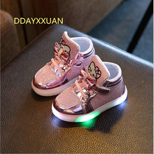 2017 NEW Children Light Up Glowing Sneakers Kids LED Luminous Shoes Boys Girls Colorful Flashing Lights Sneakers Led Sport Shoes