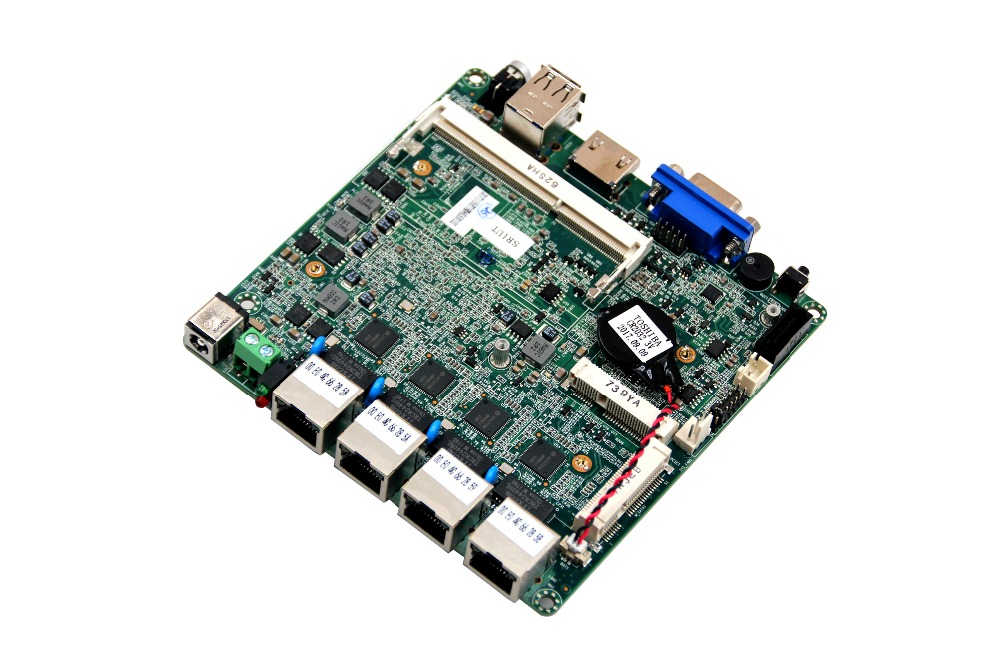Free shipping firewall Nano itx 4 Lan Port Motherboard with j1900 Processor wavelets processor