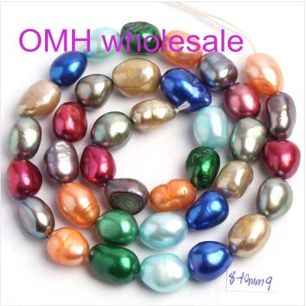OMH wholesale 36pcs Natural Freshwater Pearl Irregular Shape Loose Beads Strand 14 Jewellery Making ZL675
