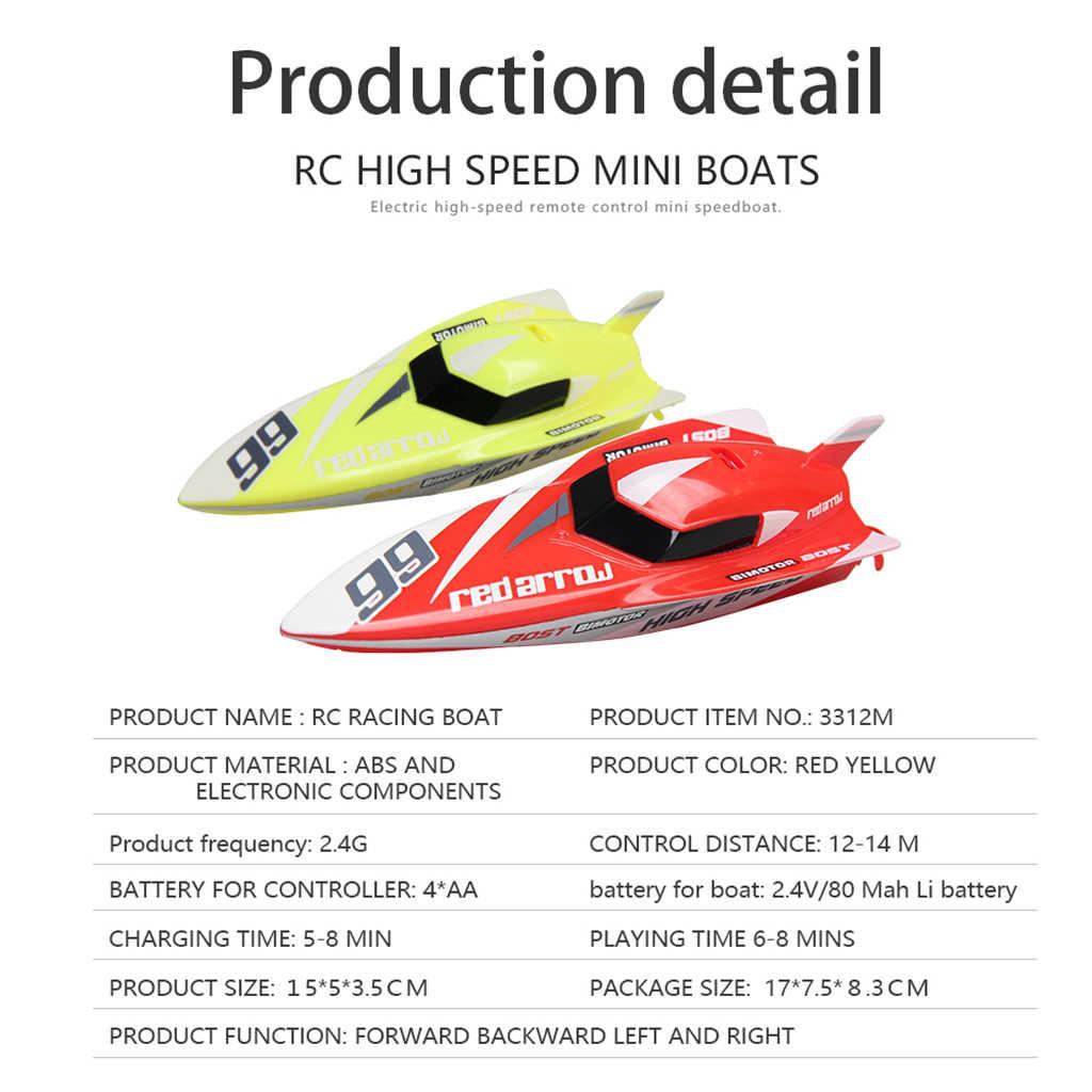 Kids Mini Palm 2.4G 4CH RC Afstandsbediening Boot Schip Model Speelgoed Oplaadbare met Controller RTR Deel Accessoire