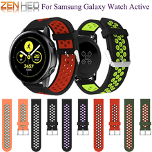 20mm strap watch band For Samsung Galaxy Watch Active Sport silicone Replacemet for 42mm