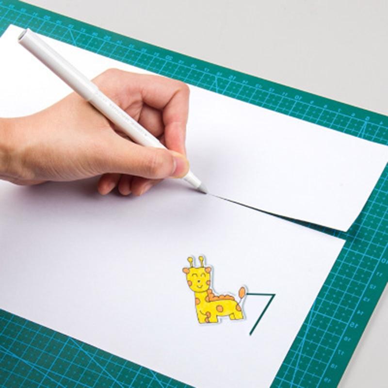 White Wear-resistant Ceramic Paper Cutter Pen Knife Paper Crafts Notebook DIY Newspaper Magazine