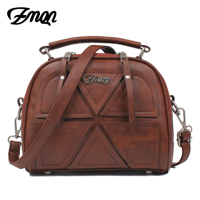ZMQN Women Messenger Bags Famous Brand 2017 Vintage Retro Women Crossbody Bag Small PU Leather Handbags For Women Splicing A523