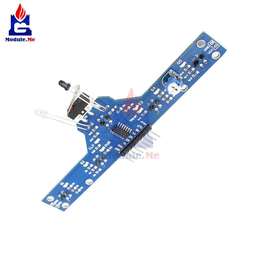 DIY Kit Expansion Board 5 Channel IR Infrared Detector Tracking Line Obstacle Avoidance Sensor Module For Smart Car Robot