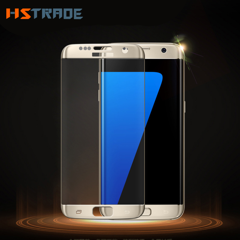 HSTRADE For Samsung Galaxy S7 S 6 Edge 9H 3D Full Cover Screen Protector Film For Samsung S7 Edge Premium Glass Protective Film