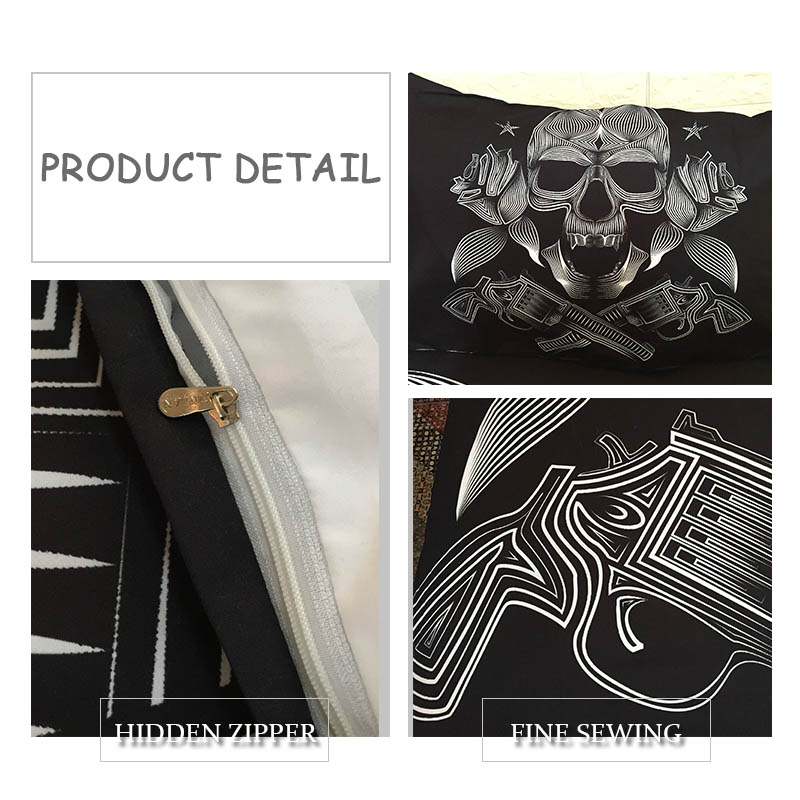 3D Sugar Skull fresco edredón cama cubierta casera colcha edredón ...