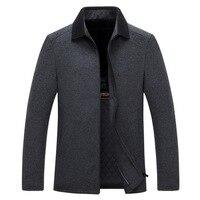 Mens Fashion Outerwear Warm Male Casual Jackets Overcoat new Winter Wool Coat Men Slim Fit Jacket Woolen Pea Coat size M 3XL