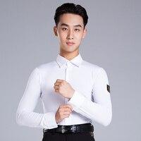 2019 Latin Dance Garment Dance Waltz Ballroom Dance Garment Performance latin man shirts Garment Top DA799