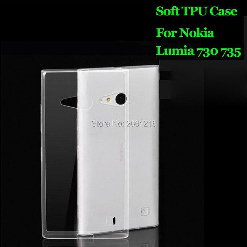 For Lumia 730 735 Ultra Thin Soft TPU Silicon Gel Transparent Case Back Cover For Microsoft Nokia Lumia 730 735 4.7