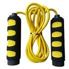 Прыжки со скакалкой из нескользящей пены для детей от 5 до 10 лет (желтый + черный) ①