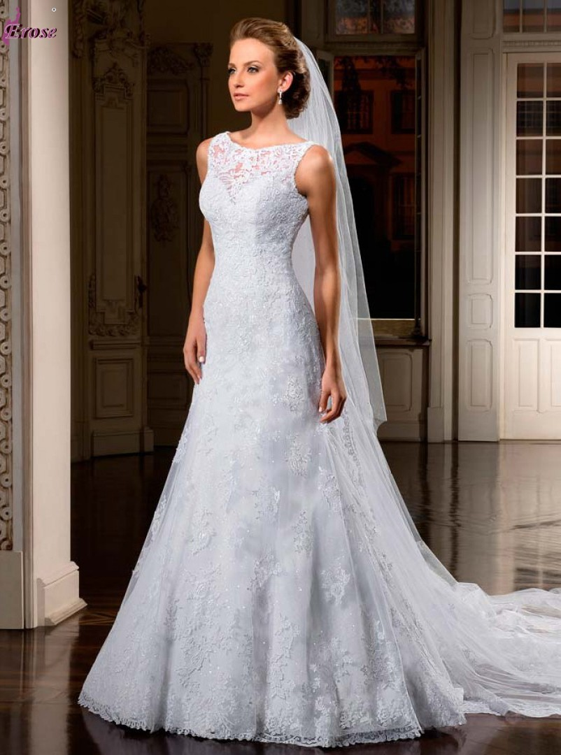 new coming russian design appliqued sleeveless tank beaded tulle wedding dress bridal gown nv 017