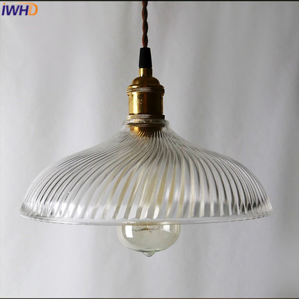 IWHD Style Loft Retro Hanging Lamp Vintage Industrial Glass Pendant Light Fixture Hanglamp Ding Kitchen Cafe Luminaire Lamparas iwhd loft retro led pendant lights industrial vintage iron hanging lamp stair bar light fixture home lighting hanglamp lustre