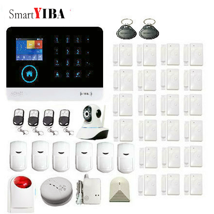 SmartYIBA Smartphone Monitoring 3G Residential Alarm Touch Panel Alarm System Security Home SMS Voice Alert GPRS Delay Function