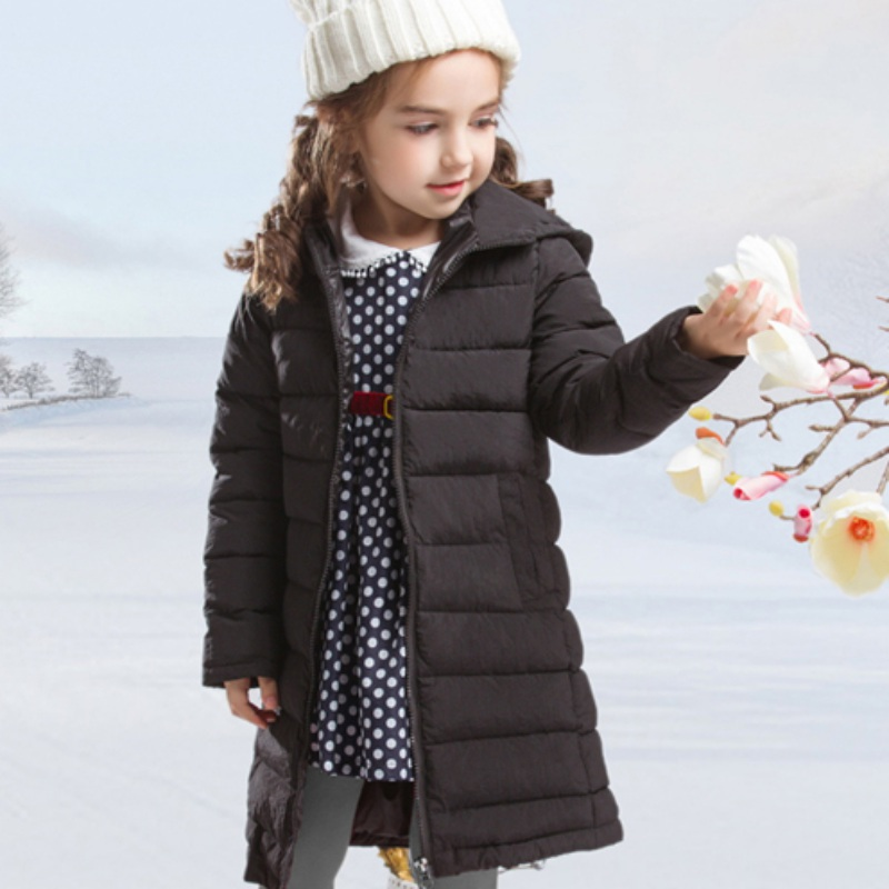 Children's Cotton Jackets Coats New 2017 Solid Cotton-padded Girls Warm Winter Coat Fashion Brand Kids Clothes Outerwear For 3-1 children winter coats jacket baby boys warm outerwear thickening outdoors kids snow proof coat parkas cotton padded clothes