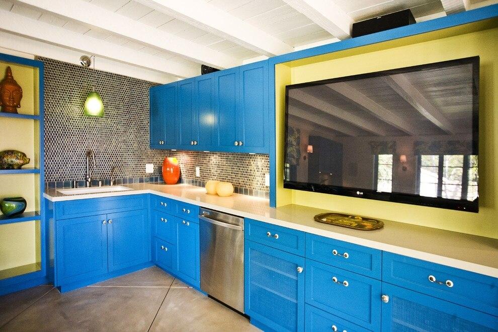 Mediterranean Style Nice Color Kitchen Cabinet K016 In