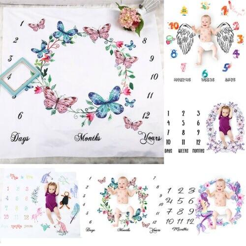 Милое детское одеяло для фотосъемки для малышей, фон для мальчиков и девочек, ткань с календарем, чехол для коляски, ткань для фотосъемки|Фон| | - AliExpress
