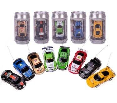 Coke Can Mini RC coche venta caliente Radio Control remoto Micro coche de carreras 4 frecuencias para niños regalos modelos de regalo RC envío gratis