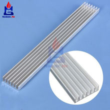 NEW Silver-White Heat Sink LED 150x20x6mm Heat Sink Aluminum Cooling Fin 150x20x6 150*20*6(China)