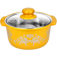 Ceramic Cooking Pots Steamer Pot Kitchen Accessories Stainless Sheathed Thick Hot Pot Cooker Dedicated Single person Mini Soup