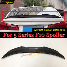 F10 Tail Spoiler wing Carbon fiber PSM Style Fits For BMW 5-Series 520i 525i 528i 530i 535i 550i Rear trunk Spoiler wing 2010-17 стоимость
