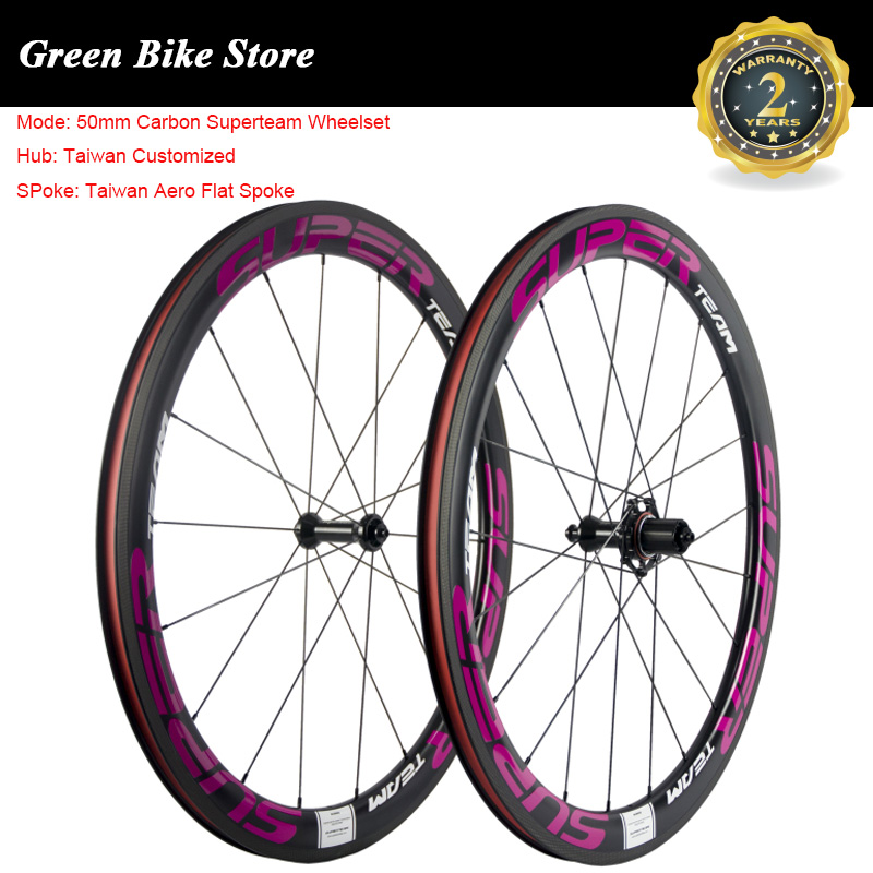 SUPERTEAM Cycling Bicycle Wheel 50mm Carbon Clincher Wheelset Customized Hub 25mm Width UD Matte Road Bike Carbon WheelSUPERTEAM Cycling Bicycle Wheel 50mm Carbon Clincher Wheelset Customized Hub 25mm Width UD Matte Road Bike Carbon Wheel