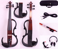 New 4/4 Electric Violin Solidwood Powerful Sound Big jack Small jack Master