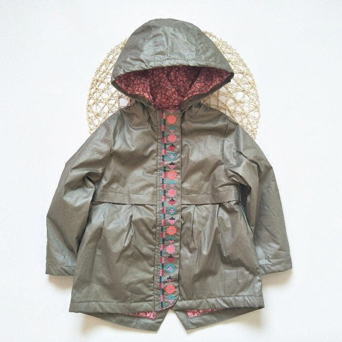 children/kids/girls autumn/spring think padding jacket w floral lining, 2A to 12A dsei30 12a to 247