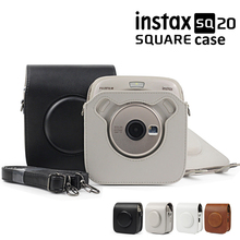 For Fujifilm Instax SQUARE SQ10 SQ20 Instant Film Photo Camera Black/Beige/Brown PU Leather Carry Bag Case with Shoulder Strap