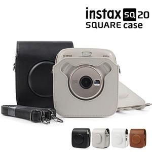Image 1 - Fujifilm Instax kare SQ10 SQ20 anında Film fotoğraf kamerası siyah/bej/kahverengi PU deri taşıma çantası ile omuz askısı